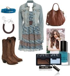 """Chic Cowgirl (:"" by callirobinson23 on Polyvore"