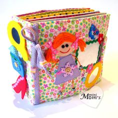 Children's Quiet Book Busy Book Eco friendly by MiniMoms on Etsy, $225.00