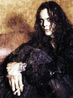 Ville Valo. Around 2007 or so would be my guess. Ahh, those were the days. Seeing the Kiss of Dawn music video on Rock the Deuce, MTV2...Takes me back to the good ole days!