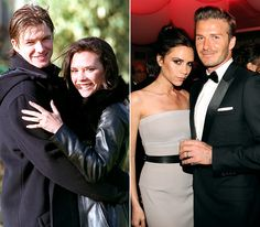 Victoria Beckham and David Beckham. They were - and are - so cute together :-)
