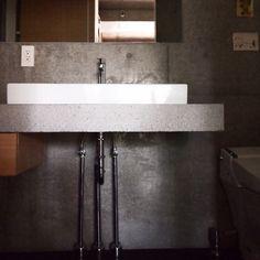 洗面/コンクリート打ちっぱなし/バス/トイレのインテリア実例 - 2015-02-15 18:32:42 | RoomClip(ルームクリップ)