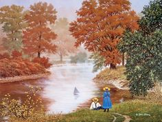 River Of Dreams JohnSloaneArt.com - John Sloane - Gallery - Country Kids