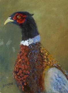"Daily Paintworks - ""Pheasant"" - Original Fine Art for Sale - © Jean McLean"
