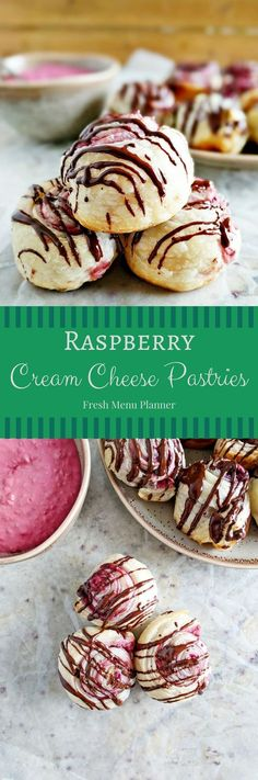 These tasty raspberry cream cheese pastries use only 5 ingredients and are the perfect dessert to take to your next party with friends. You can use store bought puff pastry or try your hand at a home made recipe! #puffpastry #pastries #raspberry #dessert