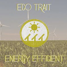 The Energy Efficient Eco-Trait applies to all of our green products that reduce or minimize our energy consumption compared to the alternatives, from Energy Star appliances to HE products to wind and solar powered devices. If a product helps us conserve energy in our everyday lives it gets the Energy Efficient Eco-Trait.