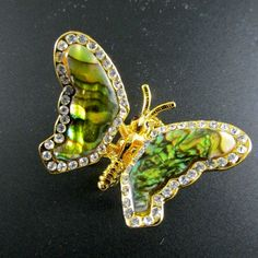 Jewelry & Watches Fashion Jewelry Objective 1928 Marcasite Butterfly Pin New Jade White