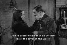 Morticia and Gomez.