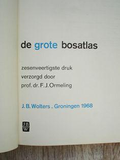de grote bosatlas –– 1968 by insect54, via Flickr