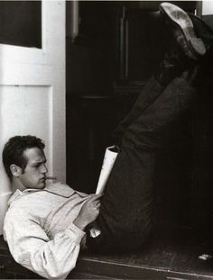 Kick Up Your Feet. Paul Newman In Cat On A Hot Tin Roof, 1958