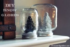 DIY Snow Globes - Domestic Superhero