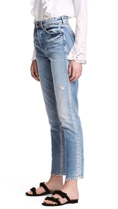H & M - vintage high cropped jeans