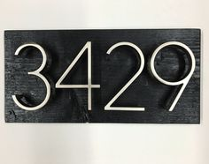 House Numbers & Address Signs - Modern Rustic Farmhouse by MadeWithBeerInHand Quality Furniture, Cool Furniture, Rustic Style, Modern Rustic, Address Signs, Rustic Home Interiors, Interior Styling, Interior Design, Great Christmas Gifts