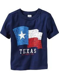 Texas Flag Tees for Baby