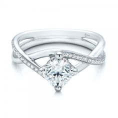 Custom Split Shank Diamond Engagement Ring