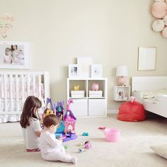 Girls room | Sisters room | Toddler and Baby Shared room