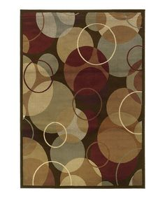 Take a look at this Brown Circle Cynthia Rug by Oriental Weavers on #zulily today!