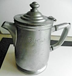 "Vintage/Antq Nickle/Silver Solder Lidded Pitcher Grand Silver Co 6"" Red Coach"