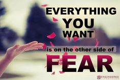 Everything you want is on the other side of fear. #quotes #fear  http://www.engineeredlifestyles.com/money/engineered-lifestyles.html