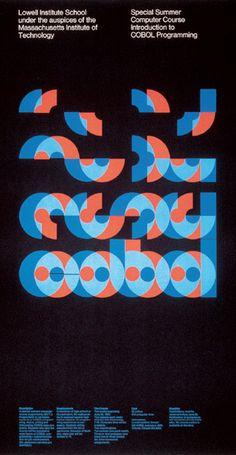 "garadinervi: "" Dietmar Winkler, poster for a computer programming course at MIT…"
