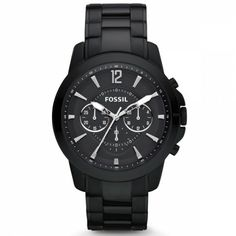 Fossil Grant Ceramic Watch - Black (Watch) On sale now Diesel Watches For Men, Fossil Watches For Men, Best Watches For Men, Swiss Army Watches, Sport Watches, Cool Watches, Women's Watches, Casual Watches, Jewelry Watches