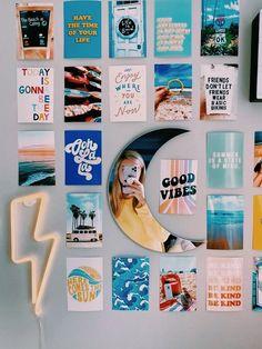 Cute Room Ideas, Cute Room Decor, Teen Room Decor, Bedroom Decor Ideas For Teen Girls, Beach Room Decor, Pinterest Room Decor, Photowall Ideas, Dorm Room Designs, Bedroom Designs