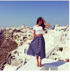 Crop top gypsy skirt