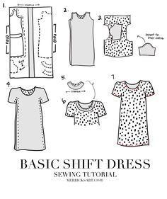 Merrick's Art // Style + Sewing for the Everyday Girl: EASY SHIFT DRESS SEWING TUTORIAL