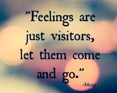 Feelings * Your Daily Brain Vitamin v2.19.15 | Treat your #feelings like the visitors they are and you'll find they aren't such a big deal after all. | Life | Love | Quotes | Motivational | Inspirational | Words of Wisdom | Quote of the Day | Advice |