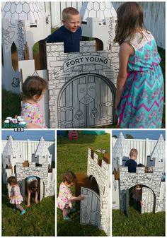 Having fun with their custom PopUp Play house #popupplay