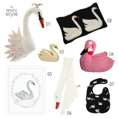 swan accessories for kids via ministyleblog.com (made in USA, Germany, Scotland...)