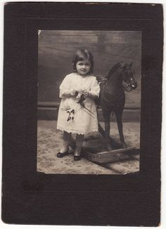 All sizes | Little Girl and Rocking Horse Vintage Photograph | Flickr - Photo Sharing!