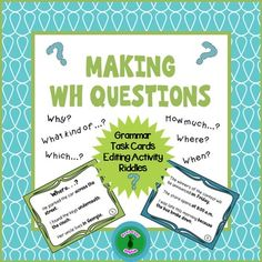 Forming questions can often be a challenge for ESL students, and this packet will give them a variety of activities to practice the structure and word order.