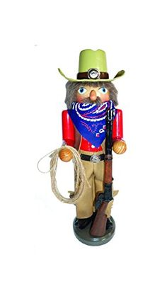 145 Home on the Range Cowboy Wooden Christmas Nutcracker with Rope and Rifle * This is an Amazon Affiliate link. For more information, visit image link.