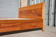 Solid Wood Platform Bed No.2 King Size with Storage by WilburDavis