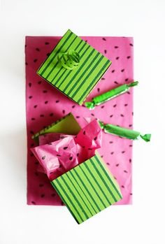 Printable Watermelon Boxes | Oh Happy Day!