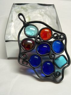 Hamsa stained glass colors handmade israel ideal by SILVINADESIGNS, $11.00