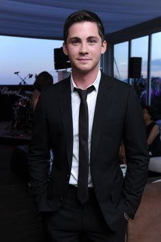 May, 16th 2014 Logan Lerman, Trophée Chopard 2014 winner, at the afterparty on the Chopard Rooftop