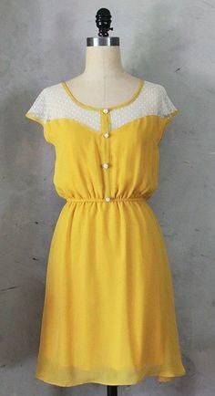 Beautiful Yellow Dress, Women's Fashion, Holiday Closet