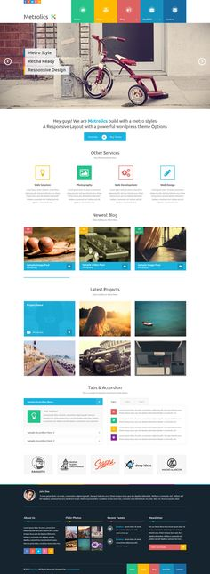 Metrolics - Business Metro Sytle PSD Template by Zizaza - design ocean , via Behance