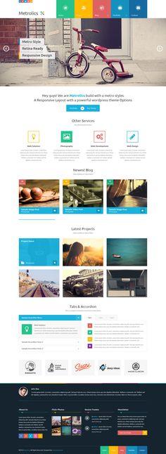 Metrolics - Business Metro Sytle PSD Template by Zizaza - design ocean , via Behance