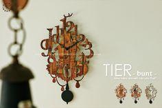 【インターフォルム】TIER-bunt-[ティーア-ヴント-]■振り子時計:INTERFORM