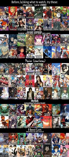Best anime recommendation list I've had so far- Almost trough and I'm still waiting to be disappointed. - Imgur