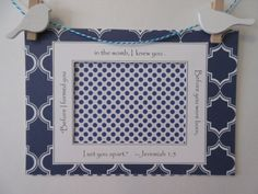 Ultrasound Frame or Mat w/Bible Verse  Navy Blue by glorygivers
