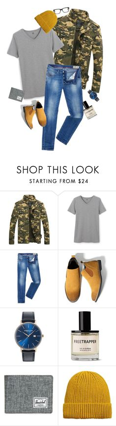 """""""Diesel Jeans"""" by mandeerose ❤ liked on Polyvore featuring Petit Bateau, Diesel, Kenneth Cole, Herschel Supply Co., MANGO MAN, Tom Ford, men's fashion and menswear"""