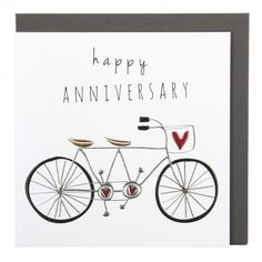 Tandem bicycle card