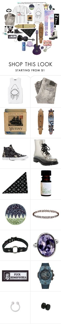 """""""30 Day Challenge. 10."""" by youngbladeterror ❤ liked on Polyvore featuring Forever 21, Diesel, INC International Concepts, Converse, CB I Hate Perfume, Topshop, Hublot and Hard Candy"""