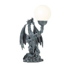 "Gothic Dragon 18"" H Table Lamp with Sphere Shade"
