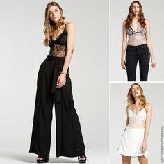Blusa top con transparencia con palazzo falda o pantalon - Moda 2018 mujer. | #outfits #modafeminina