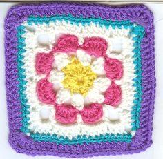 Ravelry: Just Peachy Blossom 6x6 pattern by Donna Mason-Svara