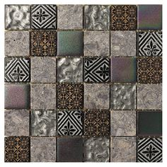 "Found it at Wayfair - 2"" x 2"" Stone / Glass Mosaic Tile in 3 Color Blend"